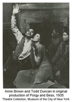 """Todd Duncan and Anne Brown in """"Porgy and Bess."""""""