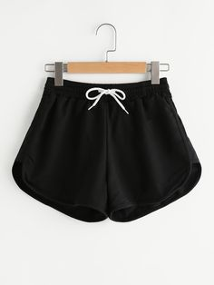 SheIn offers Drawstring Waist Dolphin Hem Shorts & more to fit your fashionable needs. Teen Fashion, Fashion Clothes, Fashion Outfits, Womens Fashion, Fashion Trends, Fashion Black, Fashion Ideas, Simply Fashion, Fashion 2018