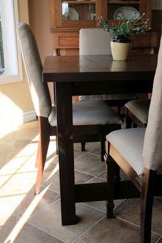 Landlocked: Farmhouse Kitchen Table  DIY   (landlocked-art.blogspot.ca/2011)