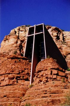 Chapel of the Holy Cross - Sedona, AZ. This facinating Roman Catholic church is literally built into the rock in Arizona.  The views from outside are unbelievable but the serenity inside is awesome