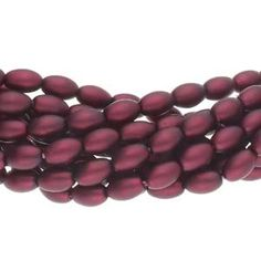 Pearl Coat Rice 6mm : CRP6-17965M - Matte Burgundy - 25 Pearls Pearl Shop, Persian Blue, Crystal Shop, Pearl Bracelet, Czech Glass, Antique Gold, Burgundy, Rice, Pearls