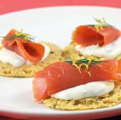 Smoked Salmon Crisps - elegant appetizer