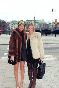 Vintage fur coat, 3.1 Philip Lim, Sam Edelman boots, Urban Outfitters harness, H dress