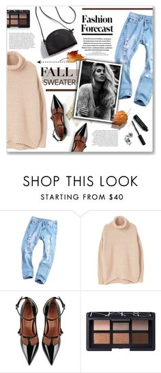 """Cozy fall sweater!"" by lilymillyrose ❤ liked on Polyvore featuring MANGO, RED Valentino, NARS Cosmetics and Bobbi Brown Cosmetics"