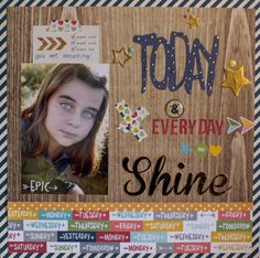 Scrapbook page with