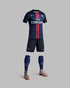 Grandeur, Respect, Passion: Paris Saint-Germain Home Kit for 2015-16 Epitomizes Club's Core Values Classic colors meet Nike Football performance innovation in Paris Saint-Germain home kit.