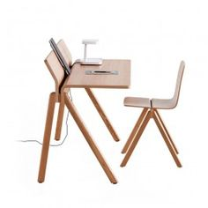 The Copenhtague Series from HAY was designed in collaboration with Ronan and Erwan Bouroullec for the new buildings at the University of Copenhagen. The series includes furniture for dormitory rooms, classrooms, and common spaces, and is characterized by its functionality and warmth. The Copenhague Desk has a distinctive silhouette—the tabletop appears to fold out of the trestle style legs, which gives the desk a sense of mobility and lightness despite its sturdy nature. The backrest of the…