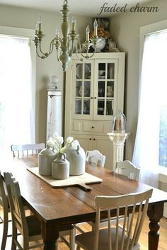 Corner hutch . perfect for the dining room