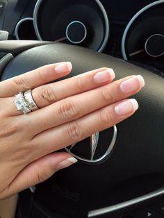 wedding nails inspiration | bridal manicure | american french manicure | Nail Design, Nail Art, Nail Salon, Irvine, Newport Beach