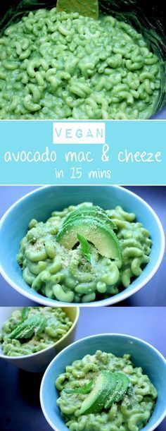 creamy and simple AVOCADO MAC and cheese that comes together in under 20 minutes! A healthy spin on a classic comfort food.A creamy and simple AVOCADO MAC and cheese that comes together in under 20 minutes! A healthy spin on a classic comfort food. Vegan Foods, Vegan Dishes, Vegan Vegetarian, Vegetarian Recipes, Healthy Recipes, Vegan Avocado Recipes, Vegan Lunches, Vegan Snacks, Simple Avocado Recipes