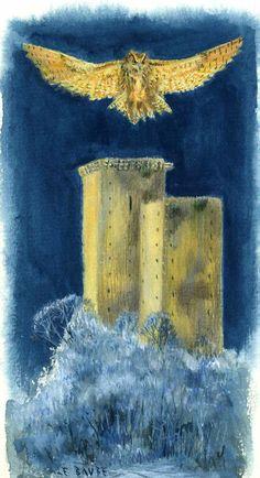 """Beaucens. Peinture à la gouache sur papier de Guillaume Le Baube. Illustration pour un livre sur les Pyrénées aux éditions """"Éclairs de plume"""". Ce """"Carnets de voyages"""", destiné aux enfants et aux adolescents aborde différents thèmes . Pour illustrer cet ouvrage, j'ai parcouru les Pyrénées, pour reconnaître les lieux et les sujets traités. Ce livre de 110 pages comporte 251 illustrations, gouaches et aquarelles.  Il est disponible en me contactant personnellement."""