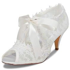 35 Best Peep Toe Shoes for Weddings: Heels, Flats, Booties + Wedges Outdoor Wedding Shoes, Colorful Wedding Shoes, Sparkly Wedding Shoes, Wedding Pumps, Wedding Boots, Outdoor Weddings, White Bridal Shoes, Bridal Lace, Satin Pumps