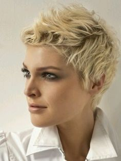 Funky short hair #blonde...I wish I could pull off short hair like this