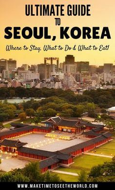 South Korea is a packed with amazing things to do & Seoul is the cherry on the cake! Here's the ultimate guide to Seoul Seoul Korea Travel, South Korea Seoul, Asia Travel, Food Travel, Travel List, Travel Guide, Busan, The Places Youll Go, Cool Places To Visit
