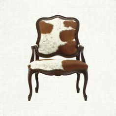 Rustic Ranch Furniture Cowhide And Leather Dining Chair