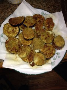 Fried Eggplant. I'm going to make this from the eggplant I received in my weekly co-op food box. :)