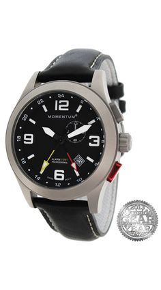 Momentum Vortech GMT. Can't wait to get this watch! http://www.momentumwatch.com/pages/products/list-of-products/vortech-gmt.php?family=Vortech_GMT&dial=Black&band=Black_'cloud'_leather