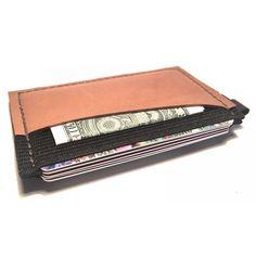 Ultra Slim 4 compartment Minimalist Front Pocket Leather Wallet & Card Holder 'Ultraz-4L Biege'