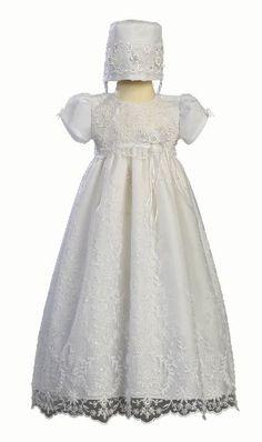 Amazon.com: Embroidered Tulle Christening Baptism: Clothing
