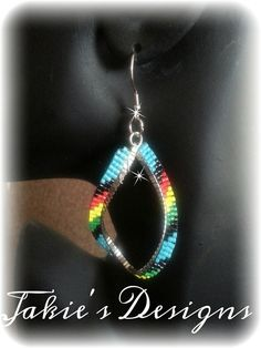 these earings are created using delicas #11 glass beads.