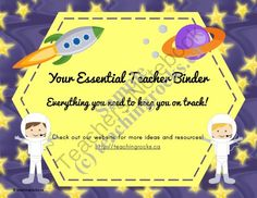 Your Essential Teacher Binder: Classroom Organization Kit (Outer Space Theme) from Teaching Rocks on TeachersNotebook.com -  (73 pages)