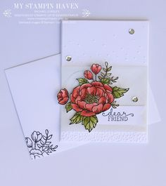 Stampin Up Birthday Blooms card by Jessica 2016 Occasions Catalogue