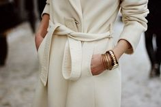 Winter white coat~