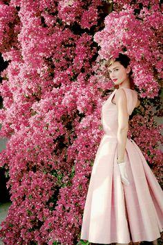 "vintagegal: "" Audrey Hepburn photographed by Norman Parkinson, 1955 """