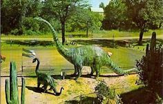 Prehistoric Forest post-card, Irish Hills, Lenawee County, in s/e Michigan. Closed
