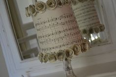 DIY Decanter Lamp with a sheet music lampshade - sweeeeet!