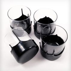 Dripped Wax Glassware - 4 Pack by Manready Mercantile on Scoutmob Shoppe ----- We could so make these ourselfs! Christmas Gifts For Boyfriend, Boyfriend Gifts, Holidays Halloween, Halloween Decorations, Halloween Ideas, Halloween Party, Kitchenware, Tableware, Great Gifts
