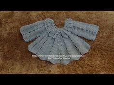 Passo a passo casaquinho em Crochê Para Bebê Parte-1 - YouTube