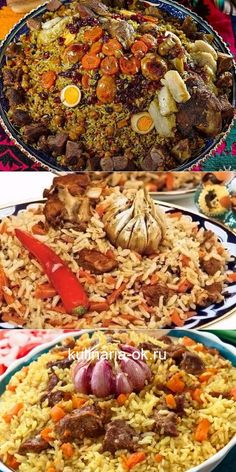 Secrets of delicious pilaf! Plus a phased utility . Russian Recipes, Turkish Recipes, Ethnic Recipes, Healthy Menu, Healthy Eating, Healthy Recipes, European Cuisine, Paella, Appetizer Recipes