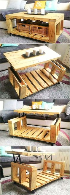 Plans of Woodworking Diy Projects - Attractive diy wodden pallet furniture proje. Plans of Woodworking Diy Projects - Attractive diy wodden pallet furniture projects Get A Lifetime Of Project Ideas Coffee Table Design, Modern Glass Coffee Table, Unique Coffee Table, Coffee Table Styling, Rustic Coffee Tables, Rustic Table, Farmhouse Table, Rustic Wood, Diy Projects Plans