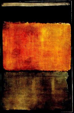 Mark Rothko ~ copper Brown and orange/yellow/red abstract is sophisticated and subtle #11, 1950