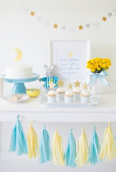 How to Host a Good Night Moon Themed Baby Shower