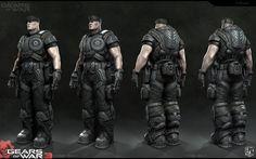 Gears of War 3 - Hoffman, Mike Kime on ArtStation at https://www.artstation.com/artwork/3ZEl2