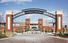 30 Signs You're A Creighton Student Entrance Design, Entrance Gates, Gate Design, University Architecture, Education Architecture, School Building Design, School Design, Daycare Design, Old Mansions Interior