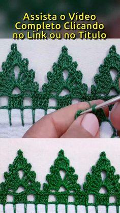 Crochet Border Patterns, Crochet Lace Edging, Crochet Cord, Cute Crochet, Crochet Designs, Crochet Crafts, Crochet Flowers, Crochet Projects, Knitting Stiches