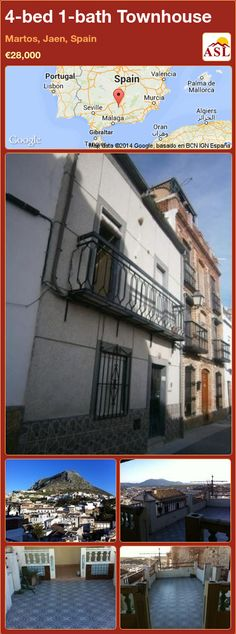 Townhouse for Sale in Martos, Jaen, Spain with 4 bedrooms, 1 bathroom - A Spanish Life Murcia, Valencia, Outside Toilet, Portugal, Juliet Balcony, Bbq Area, Summer Kitchen, Entrance Hall, Sitting Area