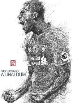 Gini Wijnaldum Liverpool FC  #liverpoolfc #football #thisisanfield #wijnaldum #lovelfc #ynwa #picoftheday #matchday #art #drawing #lfc
