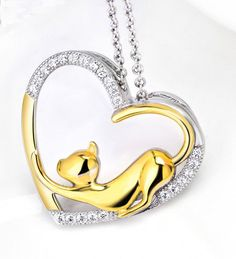 My Heart Cat Necklace