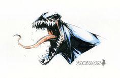 Venom Head Sketch by CreatureBox on @DeviantArt
