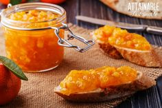 A twist on the usual, this tangerine marmalade recipe is less bitter than standard marmalade. Without the bitter peels, it's a much smoother spread. Tangerine Recipes, Ginger Jam, Breakfast Recipes, Snack Recipes, Sweet Butter, Bread Appetizers, Vegetable Drinks, Butter Recipe, Canning Recipes