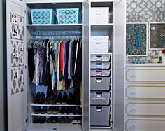 Downsize from a closet to an armoire. You only wear 20% of your clothes 80% of the time! Great for dorm closets too.