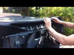 Smart Fortwo 450 Cabrio Heckscheibe ausbauen reparieren Verdeck Heckteil…