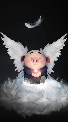 New Wallpaper Celular Fofo Ideas Pig Wallpaper, Cute Disney Wallpaper, Cute Cartoon Wallpapers, Cute Piglets, 3d Art, Pig Illustration, Baby Pigs, Little Pigs, Funny Pigs
