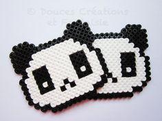 2 Dessous de verre Panda animal kawaii perle par DoucesCreations