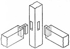 Interlocking Joint for Seat Rails of Chair to Leg.