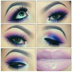 Purple & Pink Smokey Eye . Pinkish Lip